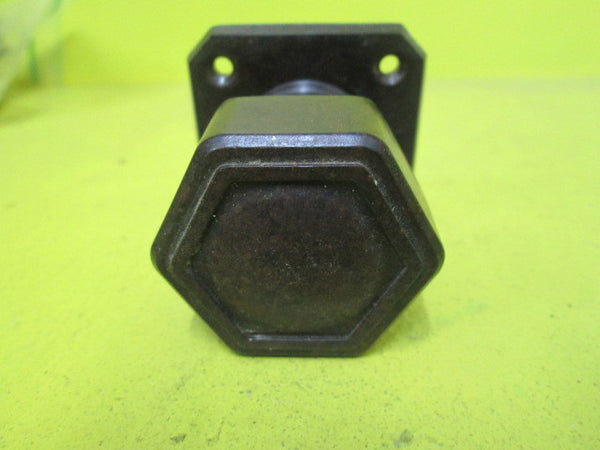 Art Deco Bakelite  Hallway Latch Hexagonal Knob with Square Plate(P;ate 55 SQ/Knob 45D x 50H)