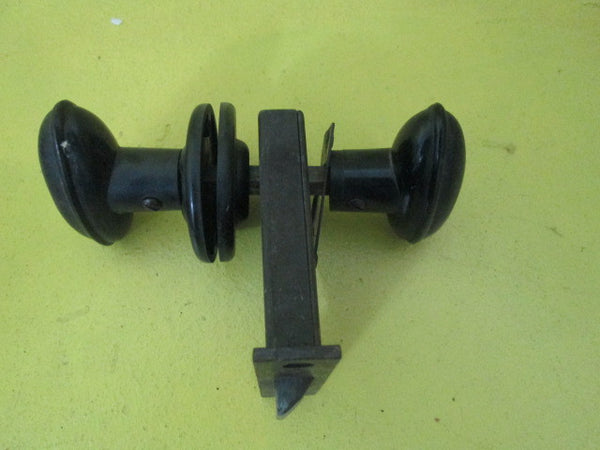 Art Deco Bakelite Door Latch with Oval Knob & Rose with Mortice and Stricker