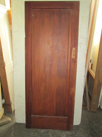 1 Panel, partially Painted Native Timber Door 2040H x 810x 45D