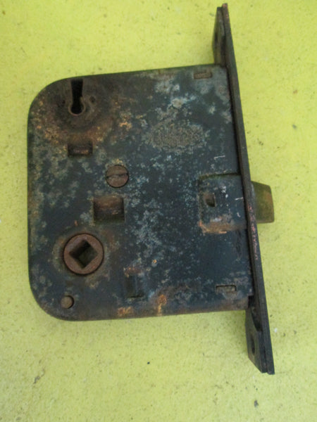 Antique Corban Mortice Lock made in USA Plate 134L x 22W/body 80W x 84L-60 Axial