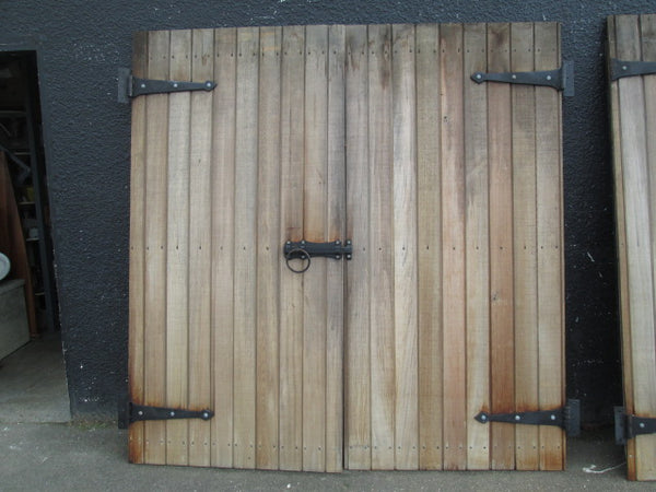 Cedar Barn Double Doors and Hardware(2090H x 2040W approx)