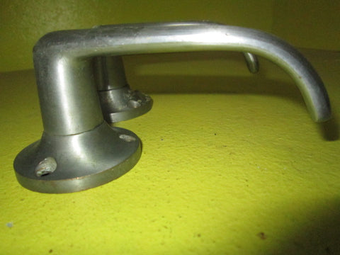 Modern Latch Lever Handles with Round Plate (120L x 55H 50D)
