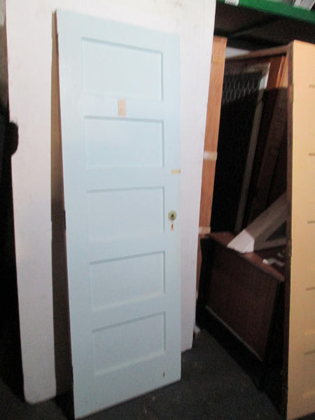 5 Panel Painted Native Timber Wardrobe Door 1980H x 660W x 40D