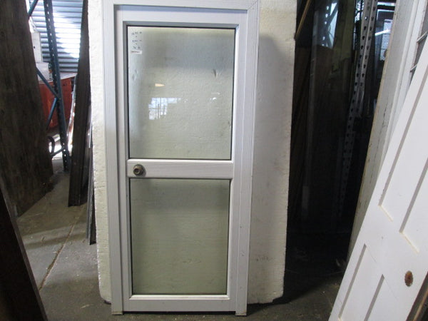 White Aluminum 2 Lite Door