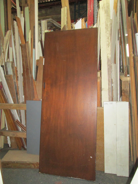 Mahogany Stain Hollow Core Sliding Door 1975H x 760W x 40D