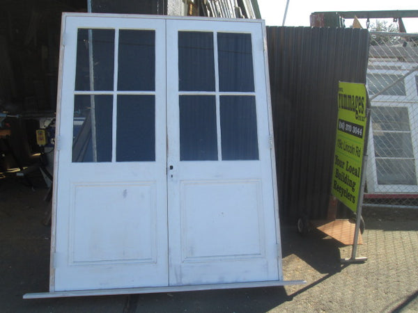 Colonial 4 Lite French Doors with Panel at the Bottom 2040H x 1570W x 130D