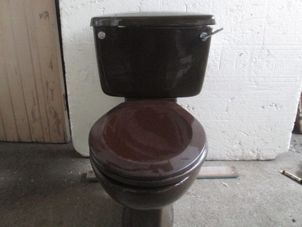 1970 - 1980 Sepia Brown Toilet System & Pan 760H x 730D x 500W