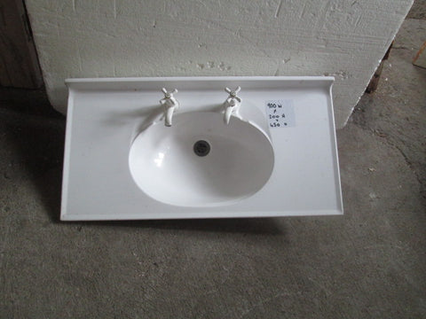 Basin Top with Tapware 900W x 200H x 450D