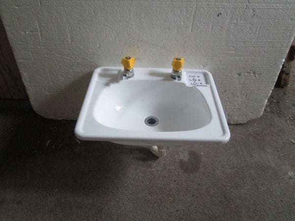 Insert Basin with Funky Yellow Orange Taps