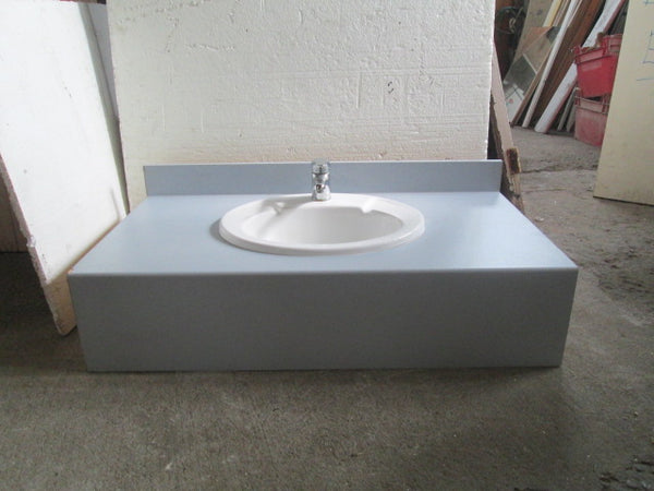 Caroma Porcelain Basin set in Bench with single Mixer 1110L x 600W x 350H