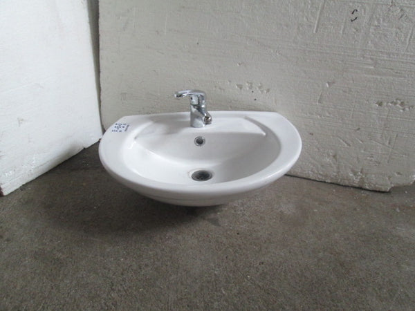 Wall Mounted Basin with Mixer 600W x 450H x 210H
