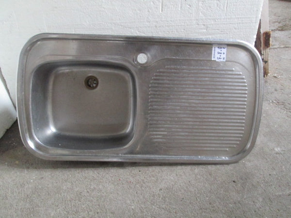 Stainless Steel Sink & Drainer 980W x 500D x 200H