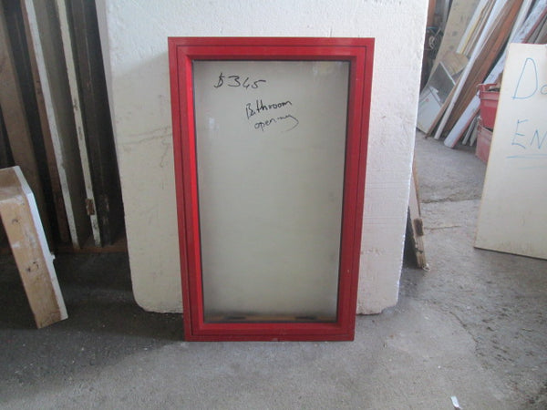 Red Aluminum Top Opening Bathroom Window 1160H x 670W x140D