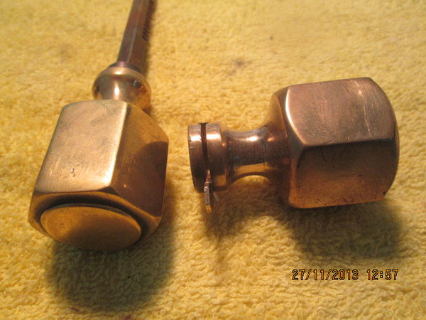 1930,s Solid Brass Handles and Door Plates(40D x 60L)