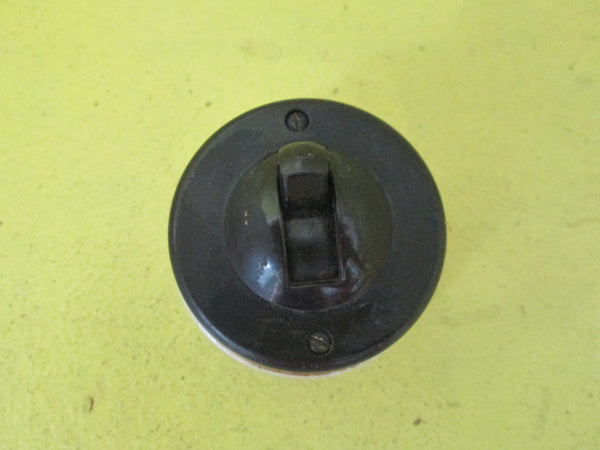 Brown Bakelite Straight Sided Rocker Switch 52D x 35H