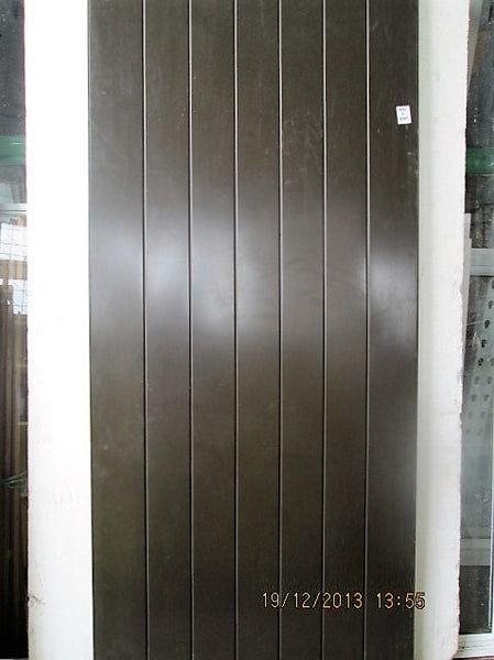 Mahogany effect Tongue & Groove Aluminum Door