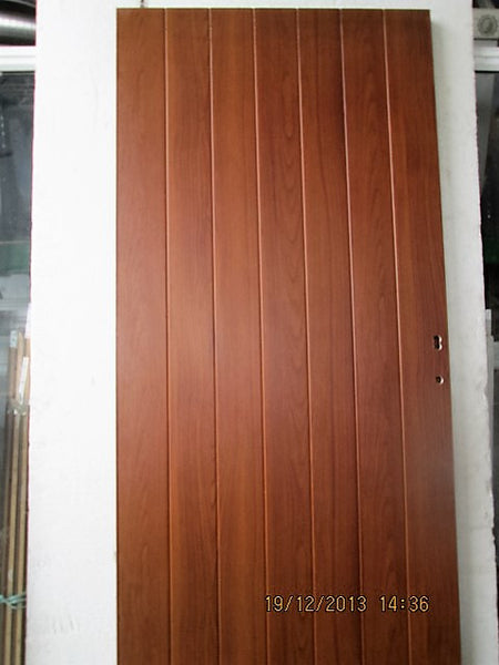 Wood Grain effect Tongue & Groove Aluminum Door