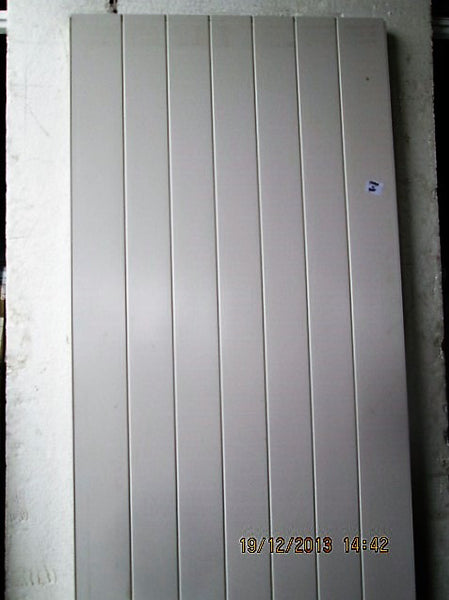 Pale Grey Tongue & Groove Aluminum Door 1990H x 860W