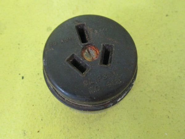 Bakelite Brown Step Side Power Socket 52D x 30H