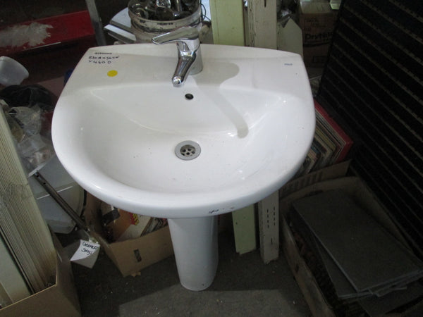 Modern Pedestal and Basin 830H x 560W x 460D