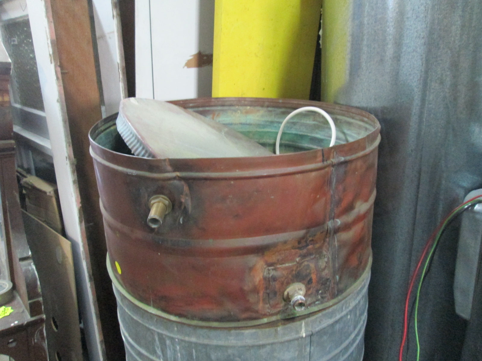 Stanley Hot Water Cylinder 30 Gallons 1969 and Header Tank ...