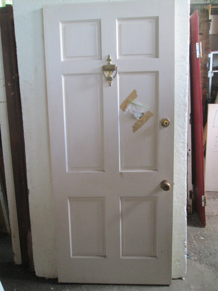 6 Panel Door with Door Hardware 1990H x 855W x 40D