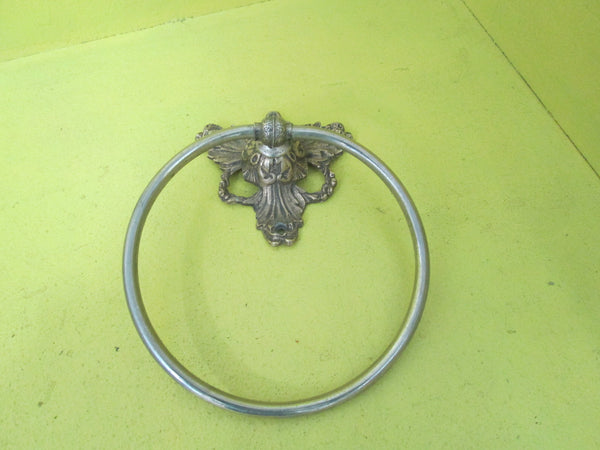 Ornate Hand Towel Ring 165D/Mount 100L x 100W