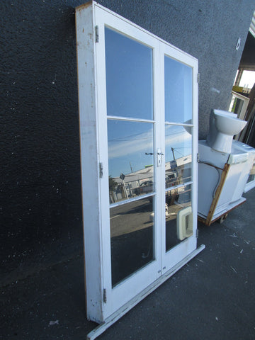 3 Lite French Doors with Keys and Cat Flap 2020H x 1560W