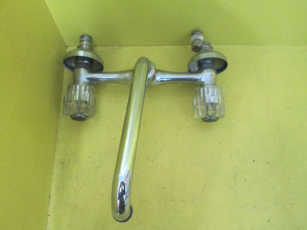 Retro Goose Neck with Acrylic Faucet 15mm D/230W x 230D x 145H