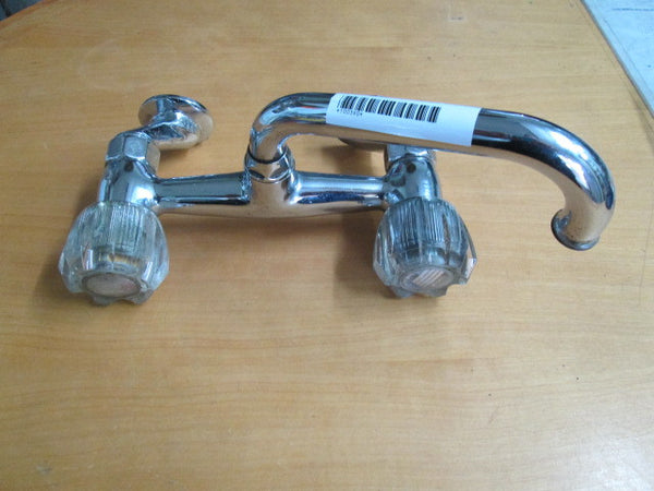 Retro Kitchen Faucet with Clear Plastic Taps