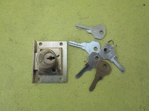 Antique Brass Cabinet/Draw Lock with Key
