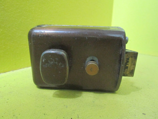 Bronze Night Latch with Rounded Rectangle Knob 95L x 65W x 20D