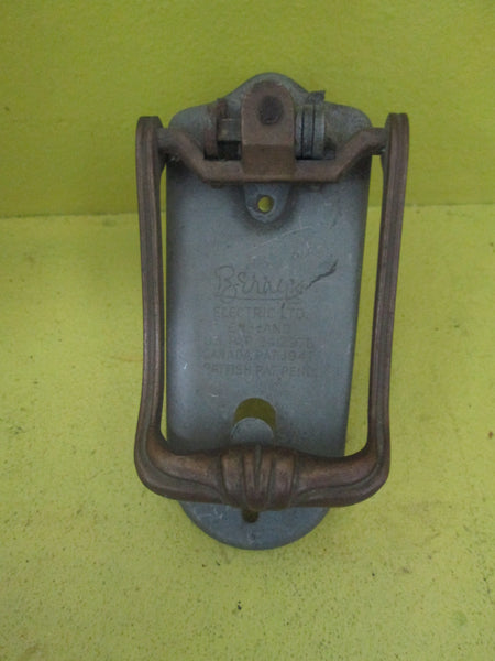 External Beewax Slimline Art Deco Door Knocker 120L x 60W x 20D