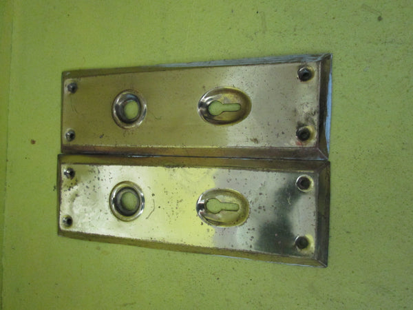 Rectangle Brass over Copper Door Plates 150L x 57W x 8D