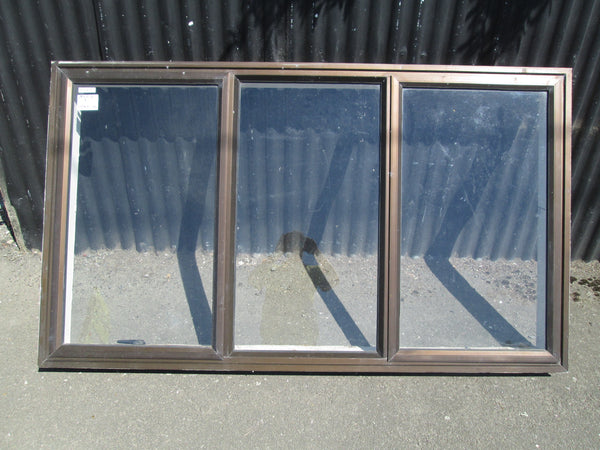 3 Lite Brown Aluminum with 2 Opening Lite Window 1040H x 1850W