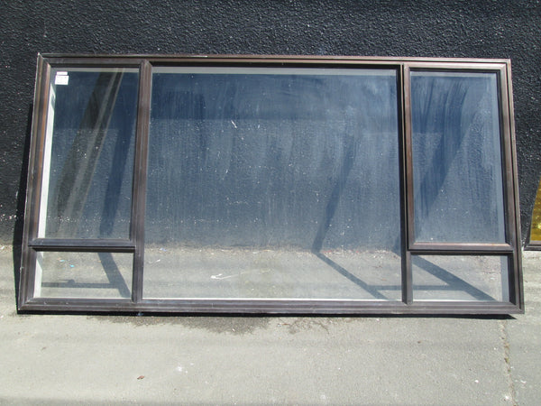5 Lite Brown Aluminum Window with 2 Opening Lite and Picture Window 1460H x 2810W
