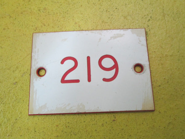 White Number Signs