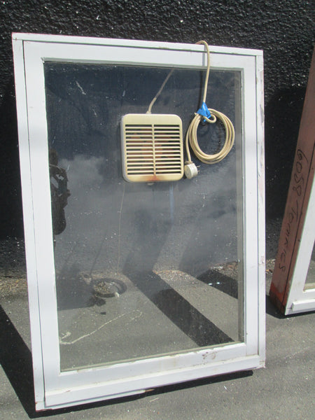 Single Wooden Opening Window with a fan 1200H x 840W
