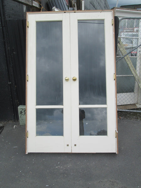 2 Lite Internal French Doors with Brass Hardware 2075H x 1290W x 115D