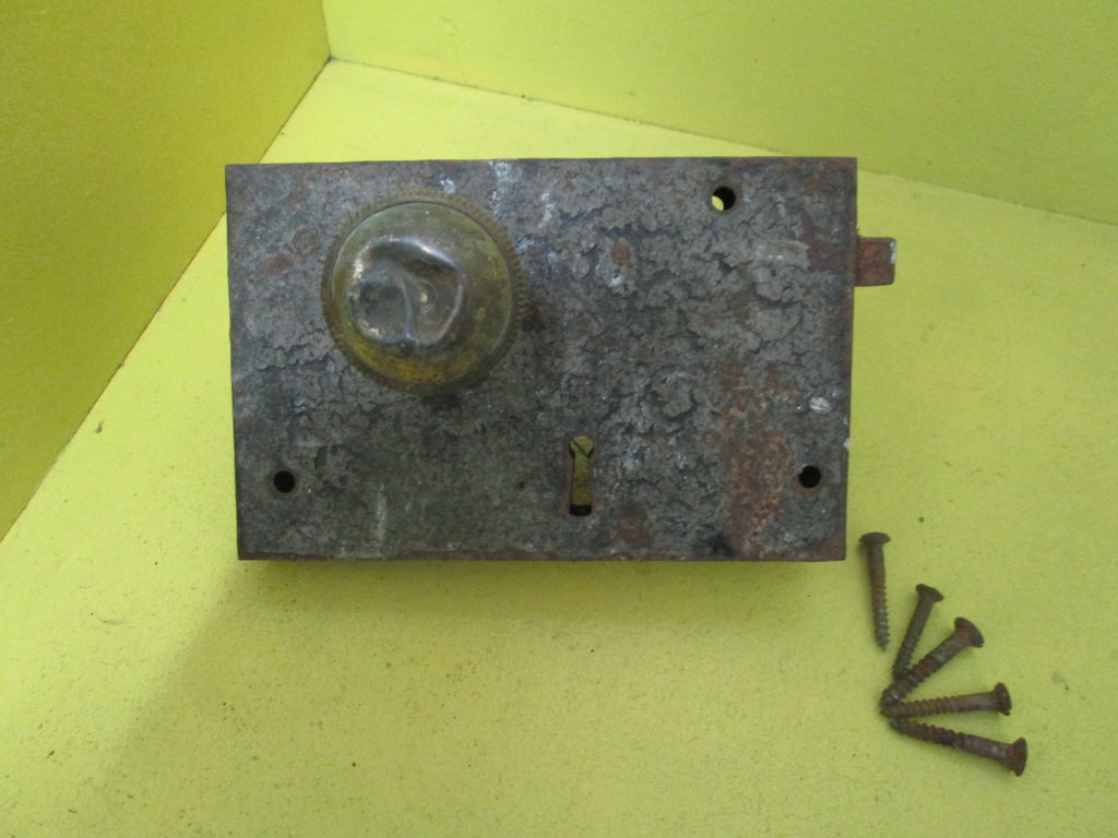 Vintage Heavy Rim Lock with Handle 115 Axial 180W x 115H x 25W