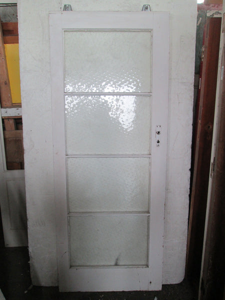 Sliding 4 Lite Raindrops Glass Door 1980H x 780W x 45D