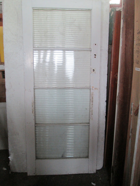 4 Lite Reed Glass Back Door 2040H x 860W x 45D