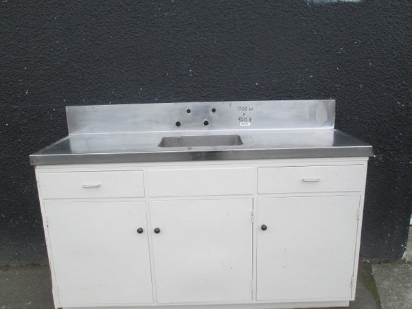 Kitchen Bench Unit with Stainless Steel Bench