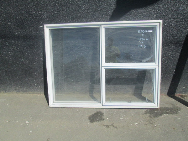 White Aluminum 3 Lite 2 Opening Window