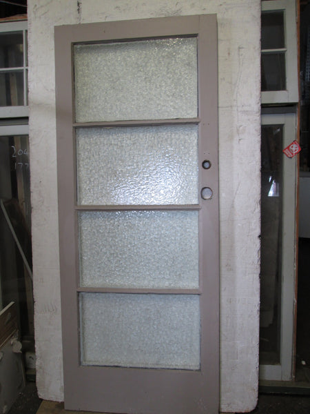 4 Lite Door with Cathedral Glass 1980H x 810W x 45D