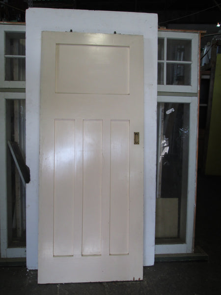 Paint Finish Craftsman Sliding Door with Track 2040H x 850W x 40D