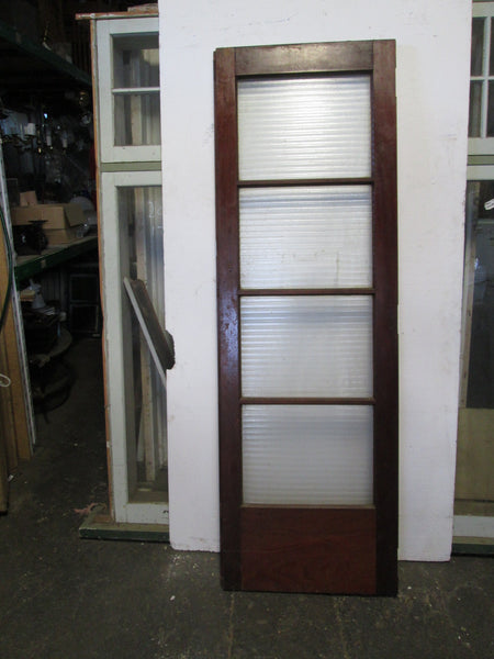 Internal Native Timber French Doors  4 Lite with Ribbed Glass 1970H x 630W x 45D