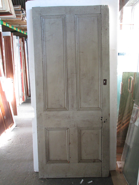 4 Panel Paint Finished Statesman Door with missing beading 2115H x 900W x 45D