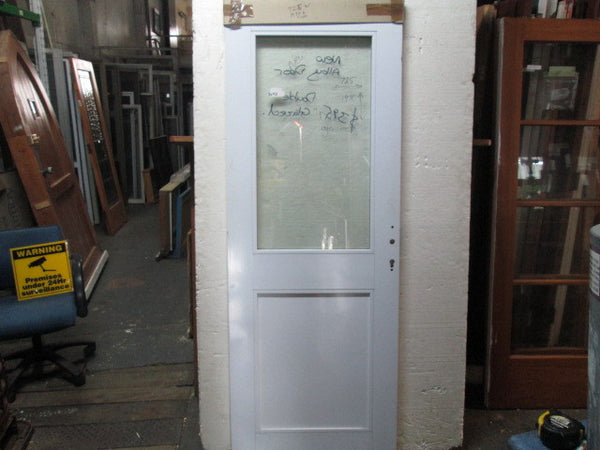 New White Aluminum Double Glazed 1 Lite Door