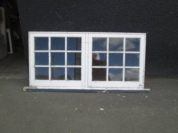 9 Lite Colonial Double Opening Windows
